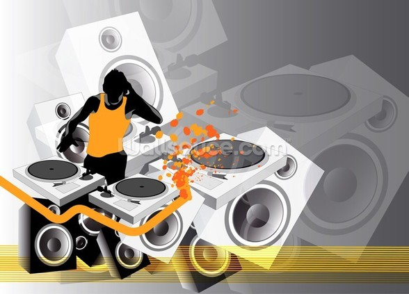 DJ Music wall mural