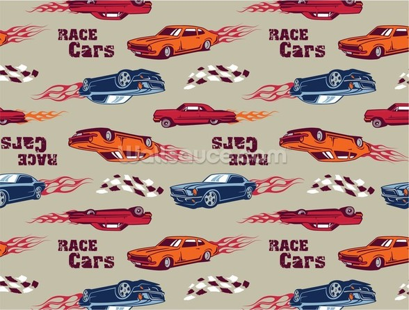 Muscle Car Illustration mural wallpaper