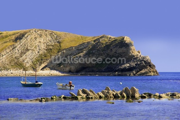 Lulworth cove dorset coast england wall mural