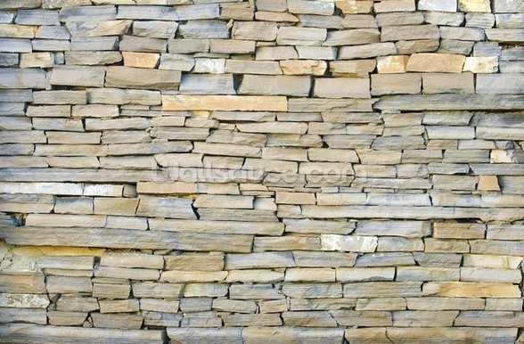 Stone Wall - Grey wallpaper mural