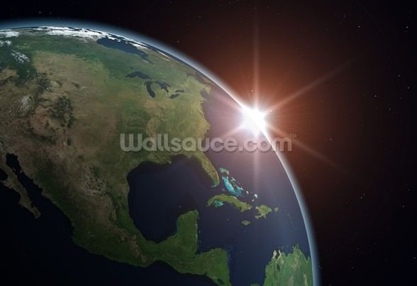 North America from Space wall mural