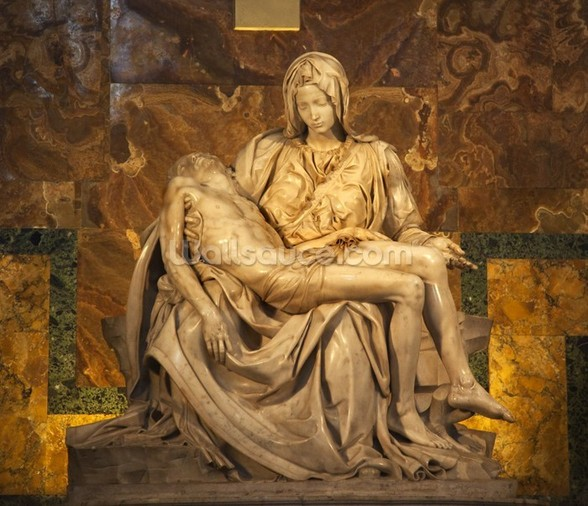 Michaelangelo's Pieta Sculpture wall mural