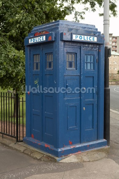 Tardis Police Box mural wallpaper