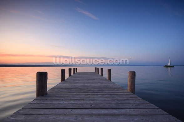 Jetty Sunset wall mural