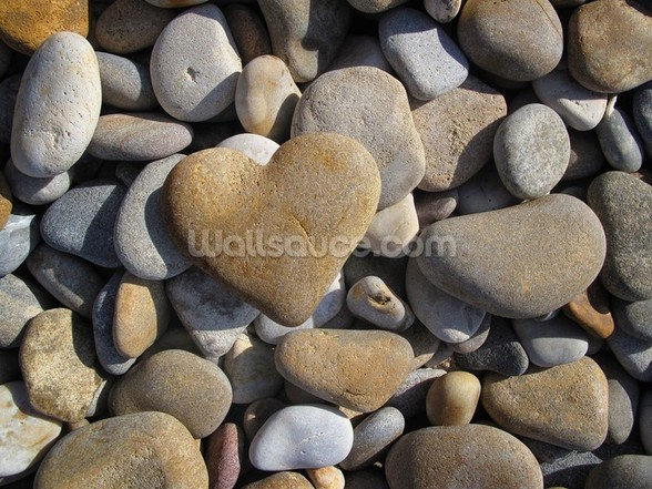Pebble Heart mural wallpaper