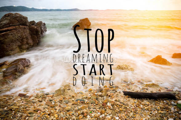 Stop Dreaming mural wallpaper