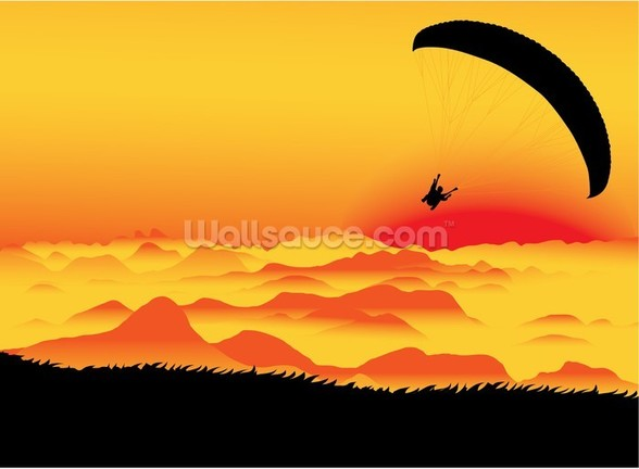Paraglider wallpaper mural