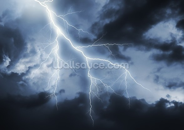 Lightning Bolt mural wallpaper