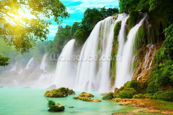 Detian Waterfall wallpaper mural