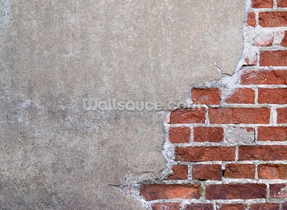 Brick and Render mural wallpaper