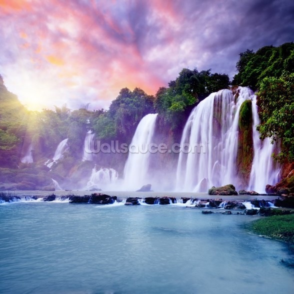 Banyue Waterfall wallpaper mural