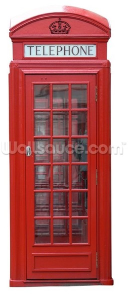 Old Red Phonebox wall mural