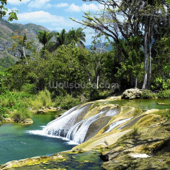 El Nicho Waterfall, Cuba mural wallpaper