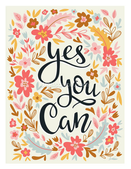 Yes You Can mural wallpaper