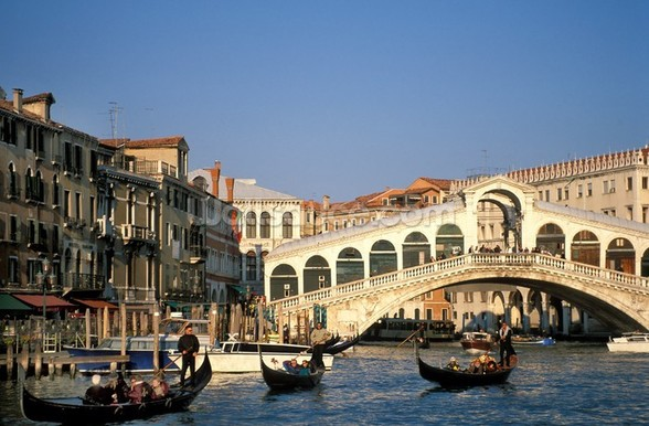 Venice Rialto Bridge mural wallpaper