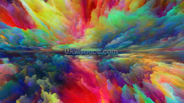 Vision of Abstract Landscape mural wallpaper