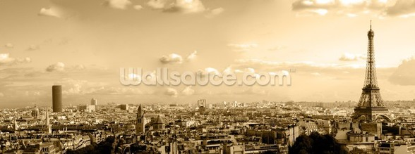 Paris Skyline Panoramic wall mural