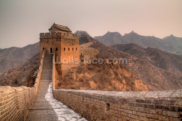 Great Wall of China Tower wallpaper mural