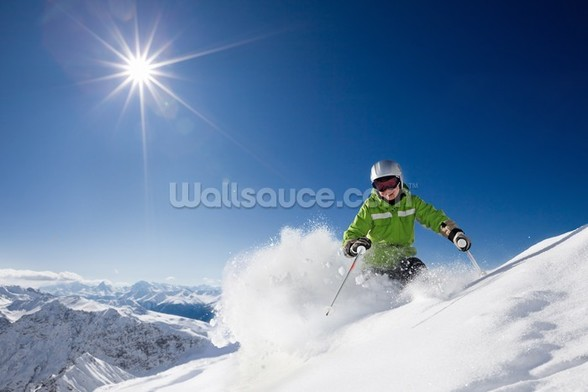 Ski The Mountains wall mural