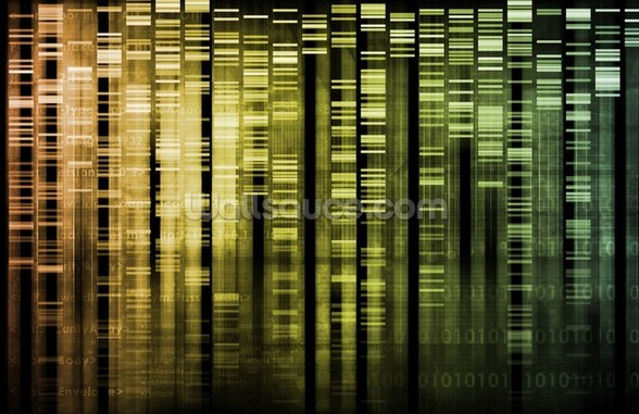 DNA Research wallpaper mural
