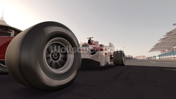 Formula One Racing Car wallpaper mural