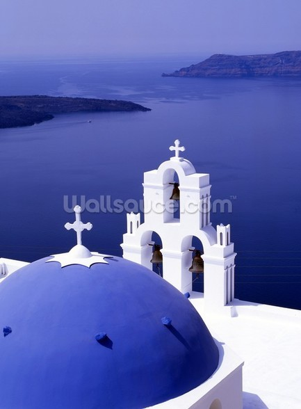 Sea View, Santorini wallpaper mural