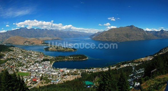 Queenstown Panorama mural wallpaper