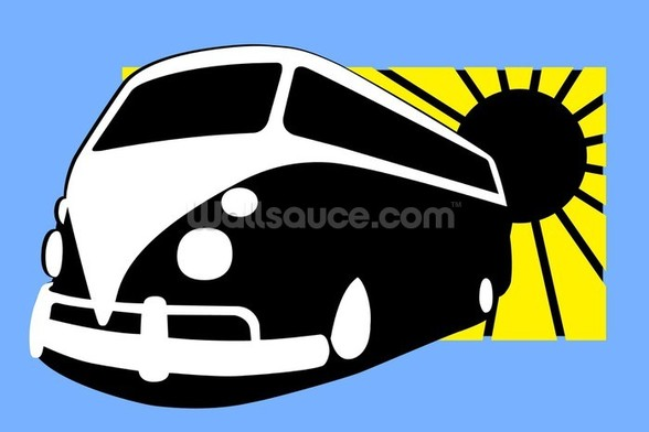 VW Camper Illustration wall mural