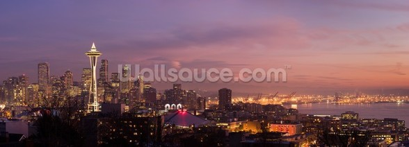 Seattle Sunset wall mural