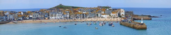 St Ives Panoramic, Cornwall wallpaper mural