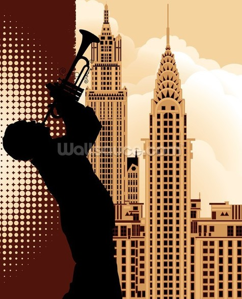 Jazz in New York mural wallpaper