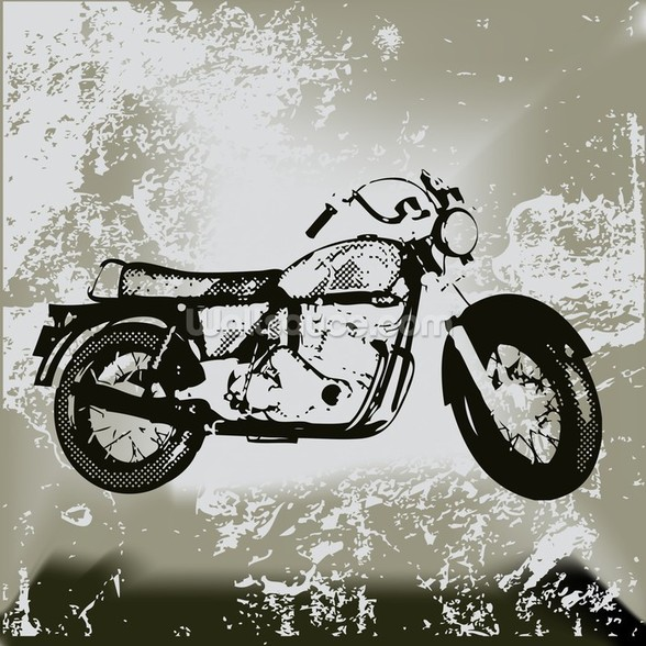 Motorcycle Grunge wallpaper mural