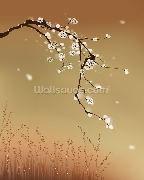 Plum Blossom wallpaper mural