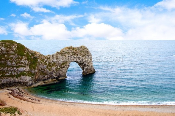 Durdle Door a naturally eroded limestone arch in Dorset UK wall mural