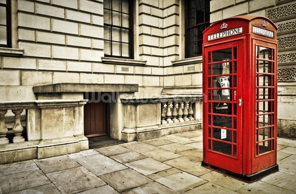 Telephone Box London wallpaper mural