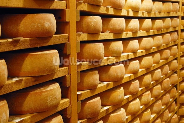 Cheese Stacked wall mural