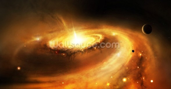 Galaxy Core in Space mural wallpaper