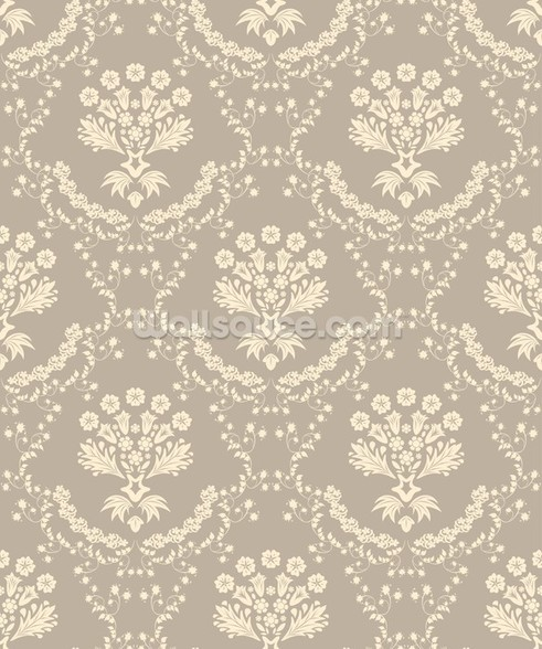 Damask - Dark wall mural