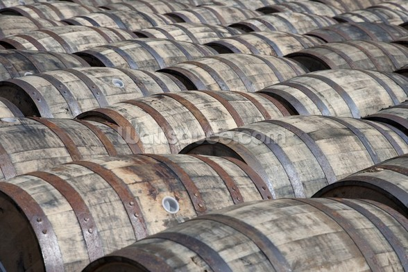 Oak Whisky Casks wallpaper mural