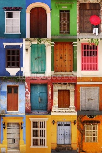 Doors Cartagena, Colombia wall mural