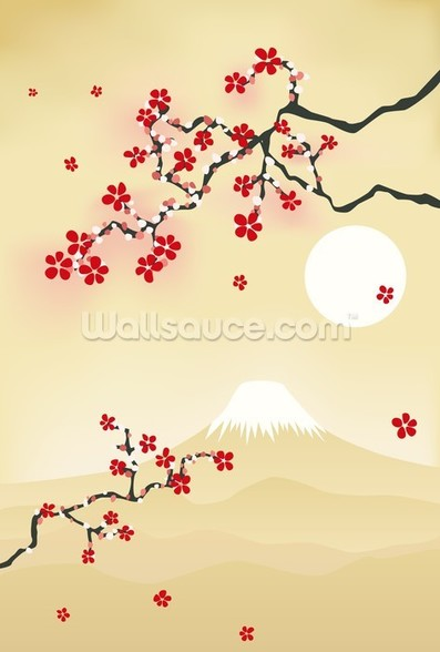 Japanese Cherry Blossom wall mural