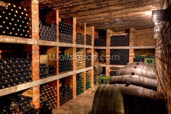 Wine Bottles mural wallpaper