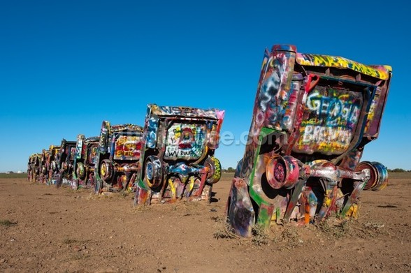 Cadillac Ranch Amarillo, Texas mural wallpaper