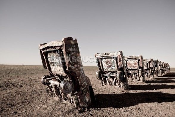Cadillac Ranch Texas wall mural