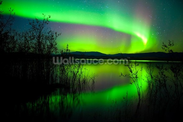 Northern Lights Mirror wall mural