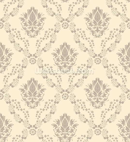 Damask - Cream wall mural