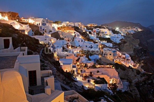 Oia Santorini Greece mural wallpaper
