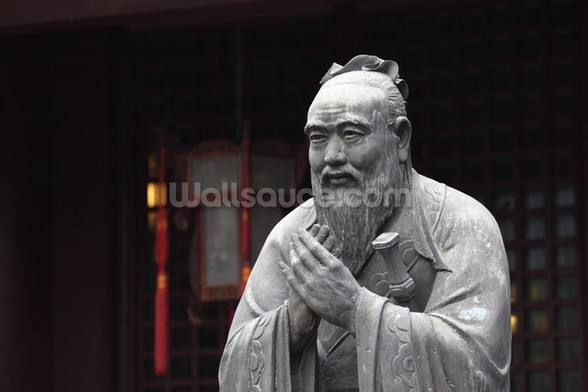Statue of Confucius wall mural