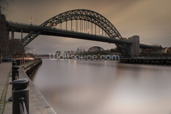Tyne Bridge mural wallpaper