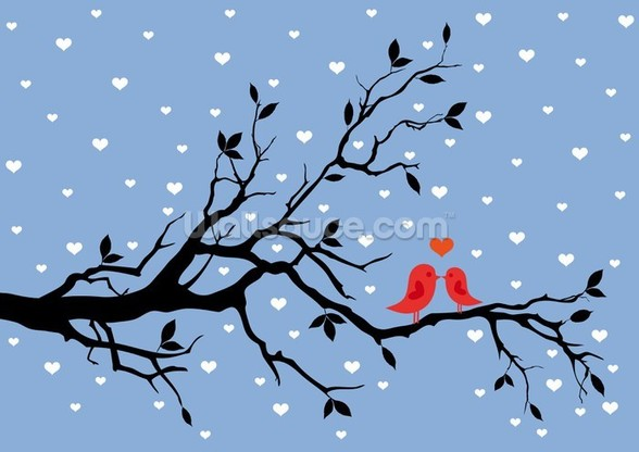 Winter Love mural wallpaper